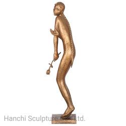 현실적 바디는 청동 조각품, 호텔 본사 장식적인 예술 및 기술 의 청동색 동상을 던졌다