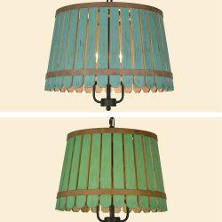 Юго-Восточной Азии стиле Loft зеленый цвет дерева подвесной светильник