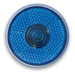 A luz de LED vermelho intermitente redonda com clipe para trás com o logotipo personalizado