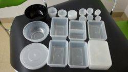 플레스틱 포장 집에 사가지고 가는 요리 음식 콘테이너