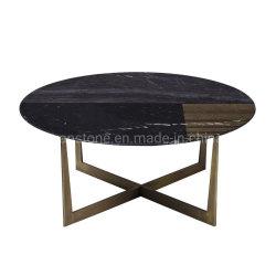De Reeksen van de Koffietafel van het roestvrij staal met Marmeren Bovenkant voor Huis en Hotel