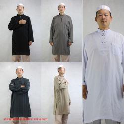Moslemische Thobe Roben für Mann-islamische arabische Kleidungs-langes Hülsen-Hemd-Herbst-Winter-BaumwolleAbaya Inder-Kleid