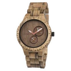 Vigilância de madeira aduaneira relógio de pulso de alta qualidade
