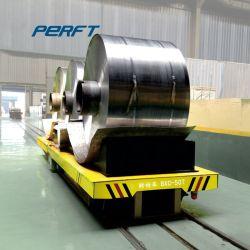 1-1000Indústria t de manipulação de material alimentado por bateria eléctrica rampa de bobina de aço Carrinho de Transferência