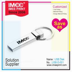 1g a 256 g de impresión de logotipo de la capacidad de Metal Llavero de forma personalizada de la memoria Flash USB del equipo