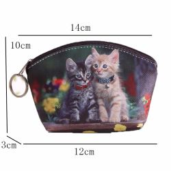 Novo PU Leather Cat Coin Bolsa Bonitinha crianças Cartoon Wallet Kawaii bag bolsa tipo moeda crianças Bolsa Titular Mulheres Coin Wallet 15