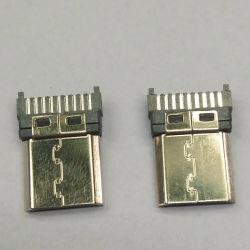 Bouchon de type C HDMI Connecteur de type mâle à souder