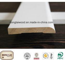 Populärer Entwurfs-weiße grundierte hölzerne Qualitäts-konkurrenzfähiger Preis-Sockelleisten-Bodenbelag-Zubehör
