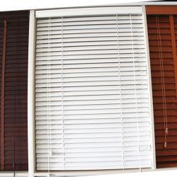 ثلوج بيضاء فوكس خشبية ستائر النوافذ تغطية