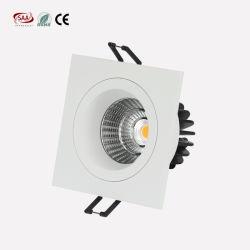 O design de alta qualidade Anti Glare COB Downlights 7W 9W 3000K branco quente 78mm cortado