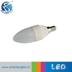 C37 3W em Alumínio Da Tampa Plástica C37 B35 E14/E27 Velas LED de luz