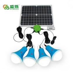 Venda quente 11V painel solar com 4 lâmpadas LED Mini Sistema de Energia Solar Portátil