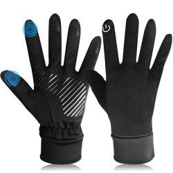 Sport caldi dello schermo di tocco di anti di slittamento del motociclo della bici di guida inverno corrente impermeabile esterno del pattino che guidano i guanti di riciclaggio antivento
