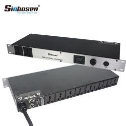 Sinbosen Professional 8+2 canaux audio numériques Le président de l'alimentation du contrôleur de séquence
