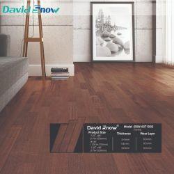 Matériau de construction en bois luxueux design plancher recouvert de vinyle PVC