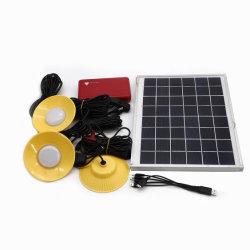 5200mAh Li-ion Batterie de sauvegarde 10W Accueil l'utilisation d'urgence de l'éclairage LED alimentée par panneau solaire Kit de système d'éclairage lumière