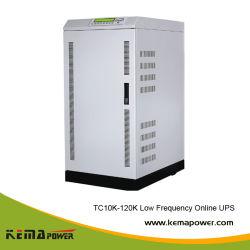 Tc60kVA 48kw نظام إمداد الطاقة غير القابل للانقطاع (UPS) مزدوج التحويل عبر الإنترنت منخفض التردد للصناعة (3: 1)