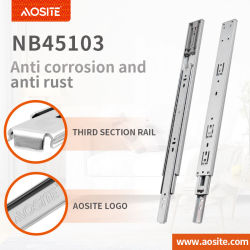 NB45103 trois fois pousser ouvrir le roulement à billes anti-rouille des diapositives