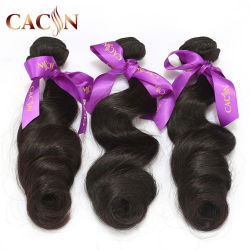 最もよい品質の緩い波の自然で加工されていないモンゴルのバージンの毛
