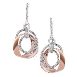 Moda 925 Sterling Silver Rose aretes de oro joyería con un diseño elegante