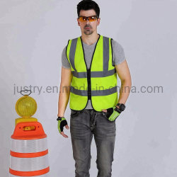 A segurança no trabalho colete à prova de fecho de Faixa reflexiva público fluorescente colete de segurança policial da Cruz Vermelha