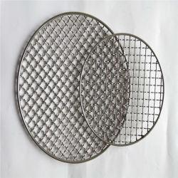 ステンレス鋼304は金網の使用されたバーベキューのネットか網のバスケットにひだを付けた