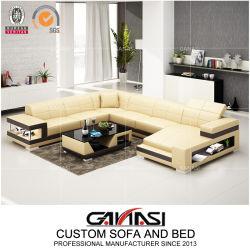 Роскошный массаж длинный кожаный диван Дубаи мебель с 2 книжном шкафу