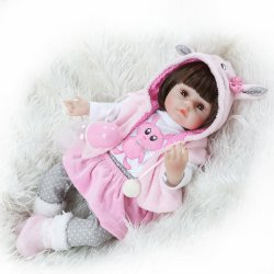 47cm 실리콘 거듭나 아기 돌들 살아 있는 실재적 보네카 베브 실물 같은 진짜 소녀 인형 돌l 생일 크리스마스