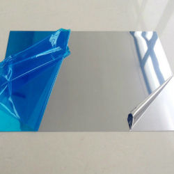 Espelho de prata de alumínio de 4 mm da borda da folha de vidro polido de banho de vestir