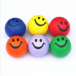 卸し売り多彩なPUのにこやかな泡の圧力の球のおもちゃ