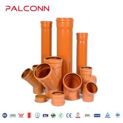 오렌지색 PVC 배출 파이프 110 160mm, 씰링 링 포함