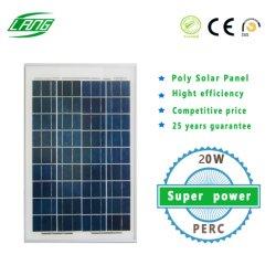 Низкая цена Mini Polycrystalline 20W 36ячеек 18,6% PV солнечной панели ячеек