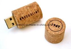 Vin rouge lecteur Flash USB de Cork en bois véritable