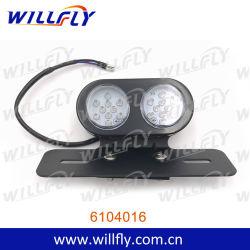 Feu arrière LED de moto avec boîtier noir