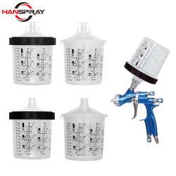 공장 직접 판매 Hanspray SPS 컵/SPS 혼합 컵 차체 수리용 PP 소재로 도장 준비 컵 페인팅