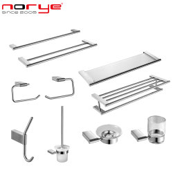 Norye Hot Sale Commercial Bathroom Accessories Set roestvrij staal voor Hotel Public toilet