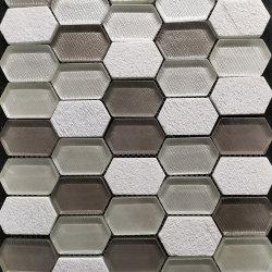 Multicolor nouvelle mosaïque de pierre hexagonal étanches
