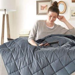 L'alta qualità ha appesantito il coperchio che 100% adulto generale del cotone la coperta pesante riduce la trapunta di ansia per il Comforter di inverno del sofà della base