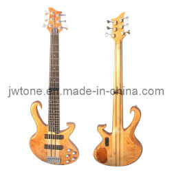 목 Through Body Birdeye Body Top와 Back Quality Electric Bass Guitar