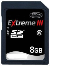 8 Go Extreme III Secure Digital Carte SDHC