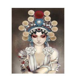 L'opéra chinois Chenistory Girl - DIY Kit Peinture par numéros