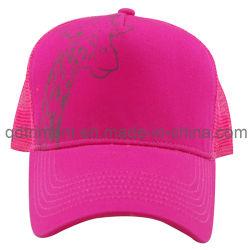 Очаровательный животных напечатано хлопок Саржа Snapback сетка Trucker Red Hat (TMT9151)