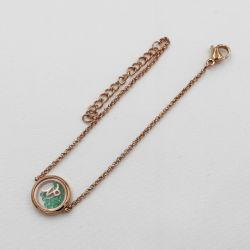 Nouvelle arrivée constellation du zodiaque médaillon Bracelet avec pierres CZ
