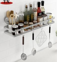 Vendita all'ingrosso Accessori da cucina acciaio inox utensili da cucina rack per stoccaggio spezie