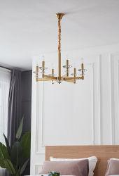 Arredamento moderno stile americano soggiorno lampadario in ferro (KL006/6)