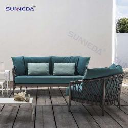 Design Leisure Mobili per esterni in alluminio patio tessuti Garden Sofas Hotel Set di divani Giardino del ristorante