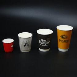Biodegradierbarer Wegwerfkaffee-Papiercup mit Winkel des Leistungshebels beschichtet