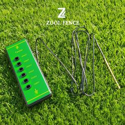 若草色カラーネオンライトの塀の電気塀の電圧テスター
