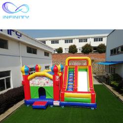 Kundenspezifisches Farben-aufblasbares Schlag-Haus-Plättchen-springender Haus-aufblasbarer Prahler für Kinder