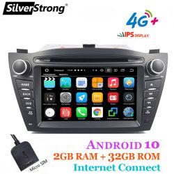 Silverstrong IPS، 2g/32 جيجا، IX35 راديو السيارة DVD، لـ Hyundai IX35 Tucson، Android10 GPS CarPlay، Media Player، Quadcore، مودم 4G، خيار معالج الإشارة الرقمية